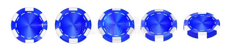 在白色现实传染媒介隔绝的赌博娱乐场高值筹码3d反对 库存例证