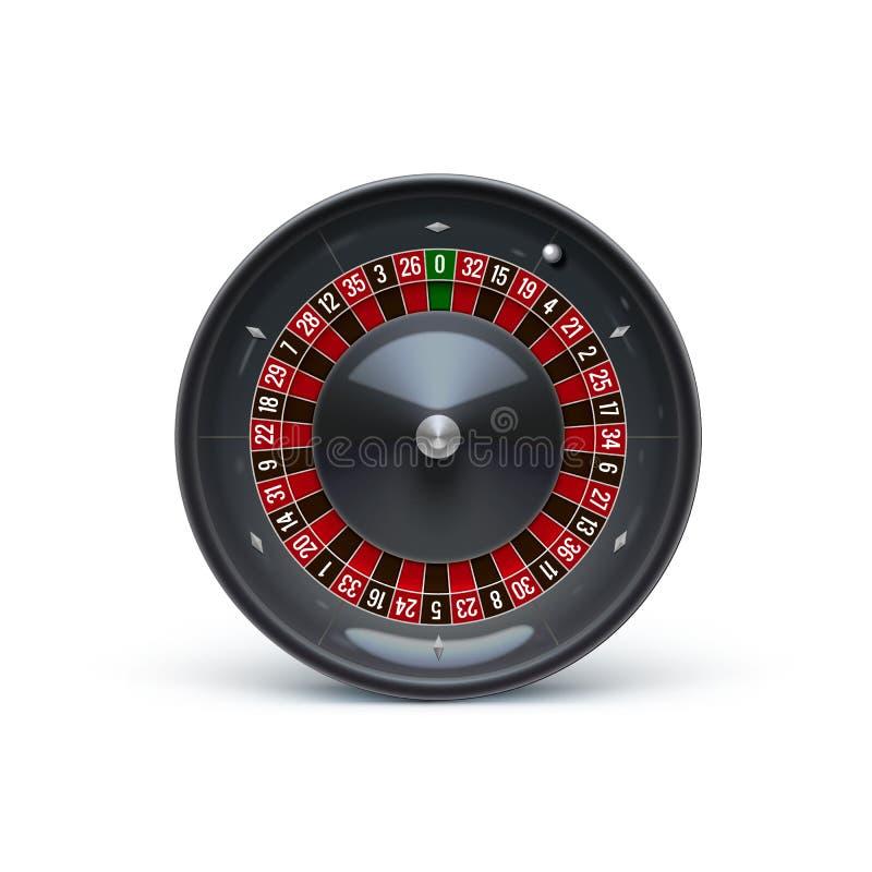 在白色现实赌博娱乐场对象的轮盘赌 皇族释放例证