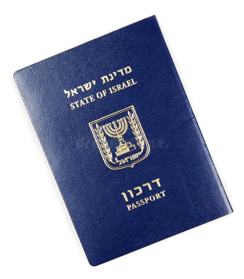 在白色的以色列护照 免版税库存照片