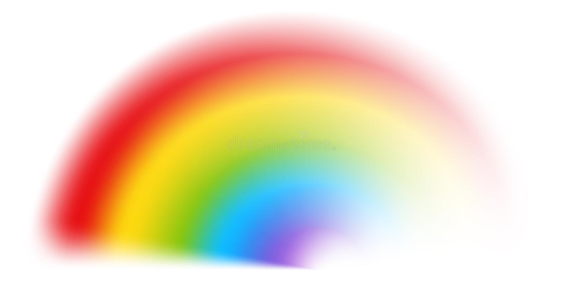 在白色的传染媒介彩虹 皇族释放例证