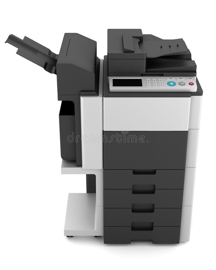 在白色的办公室多功能打印机 向量例证