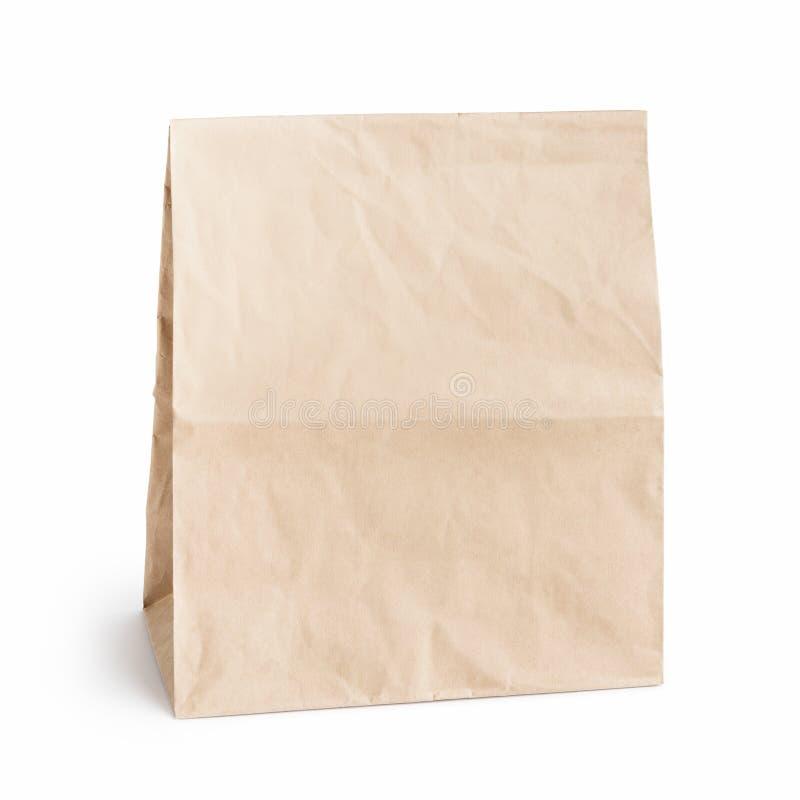 在白色的包装纸袋子 库存图片