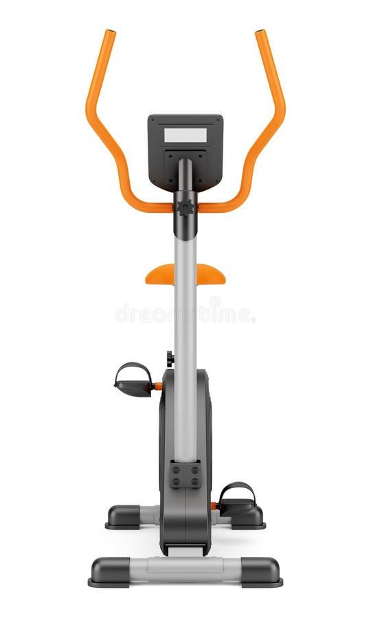 在白色的固定式锻炼脚踏车 库存例证