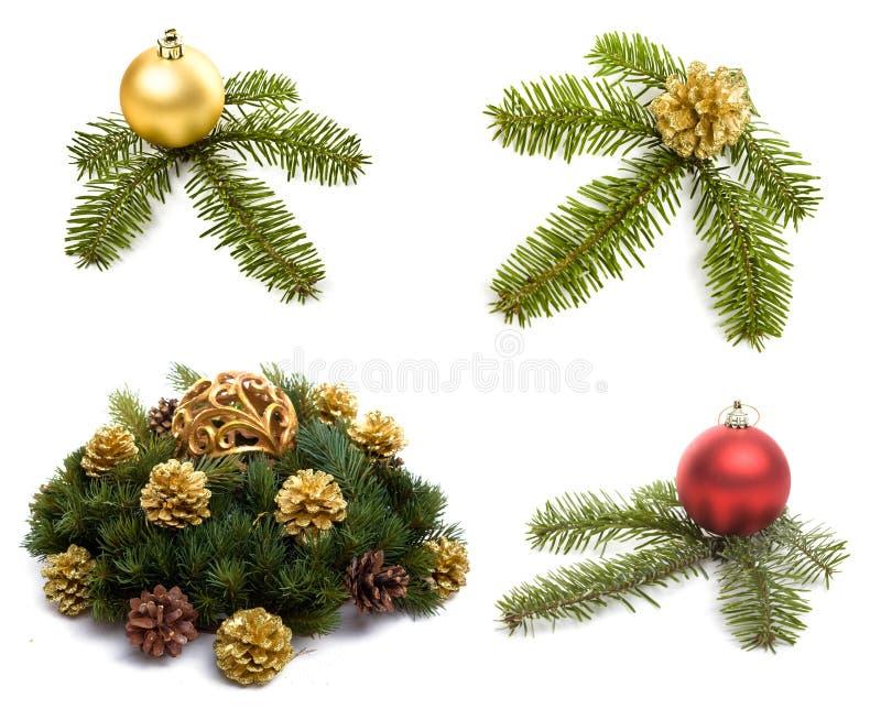 在白色的圣诞节装饰 免版税图库摄影