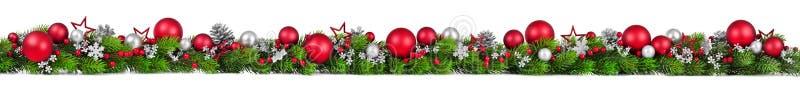 在白色的圣诞节边界,额外宽 库存例证