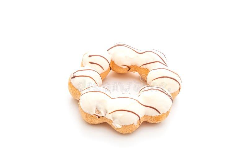 在白色的多福饼 免版税库存照片