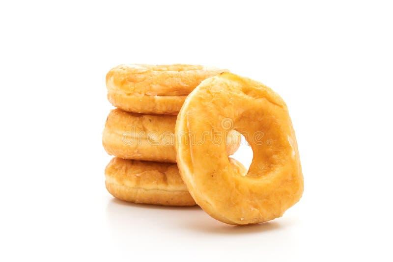 在白色的多福饼 免版税库存图片