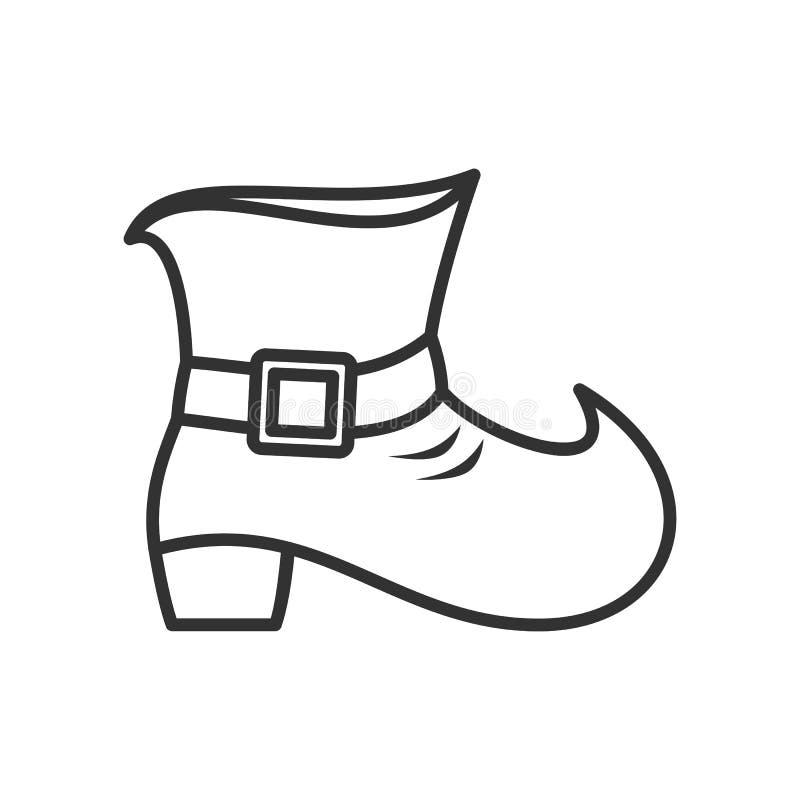 在白色的妖精鞋子概述平的象 皇族释放例证