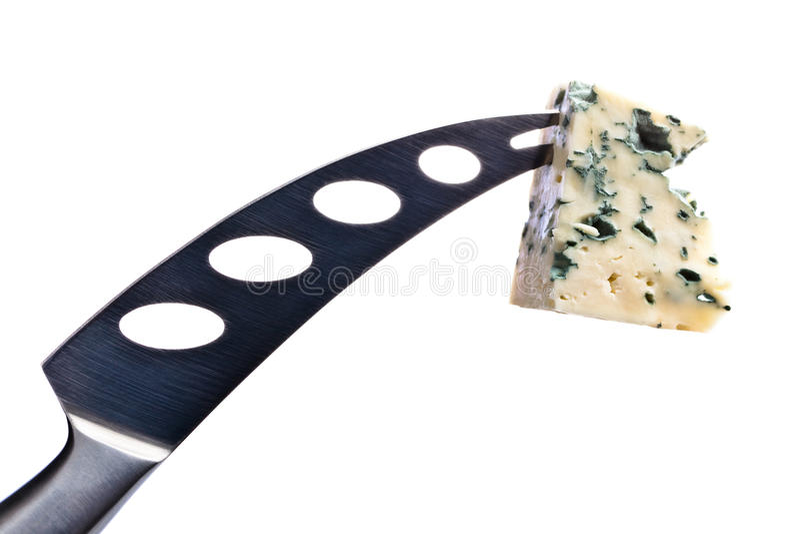在白色的戈贡佐拉乳酪 免版税库存图片