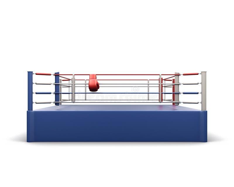 在白色的拳击台 3d翻译 皇族释放例证