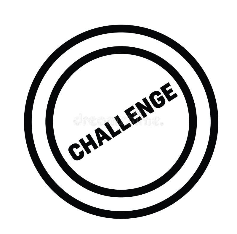 在白色的挑战邮票 库存例证