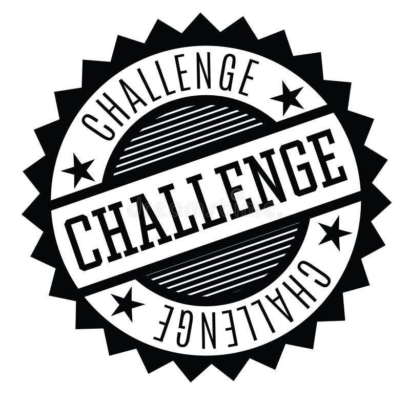 在白色的挑战邮票 向量例证