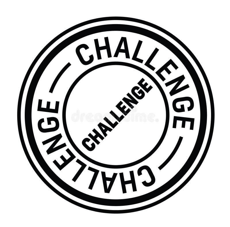 在白色的挑战邮票 皇族释放例证