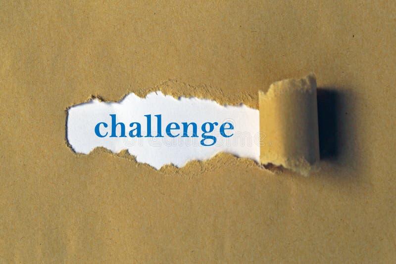 在白色的挑战 向量例证
