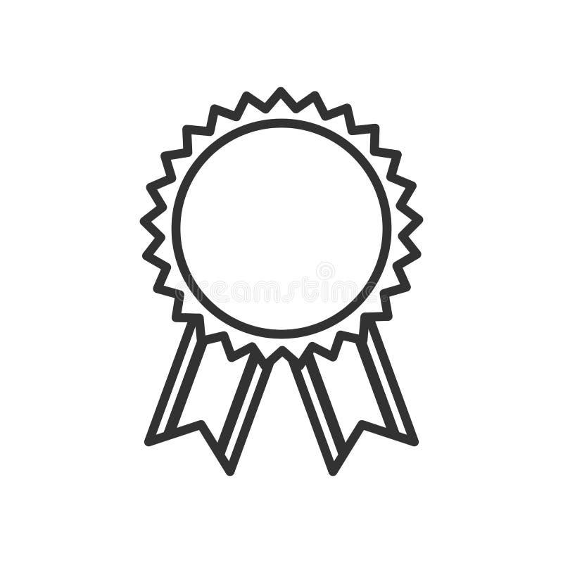 在白色的普通奖牌奖概述象 向量例证