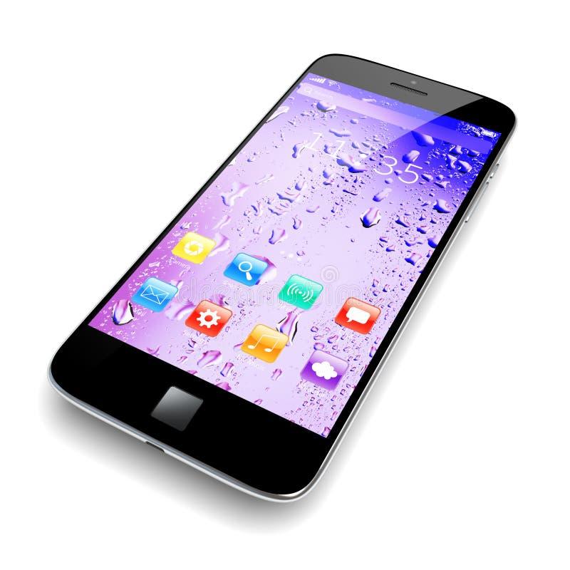 在白色的智能手机 向量例证