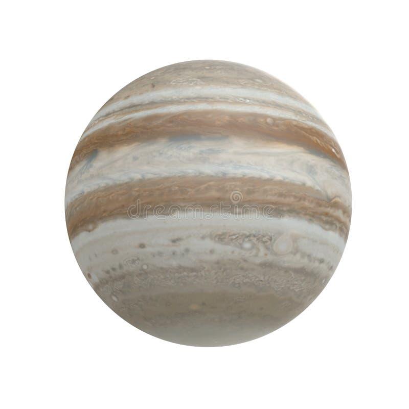在白色的木星行星 3d例证 库存例证