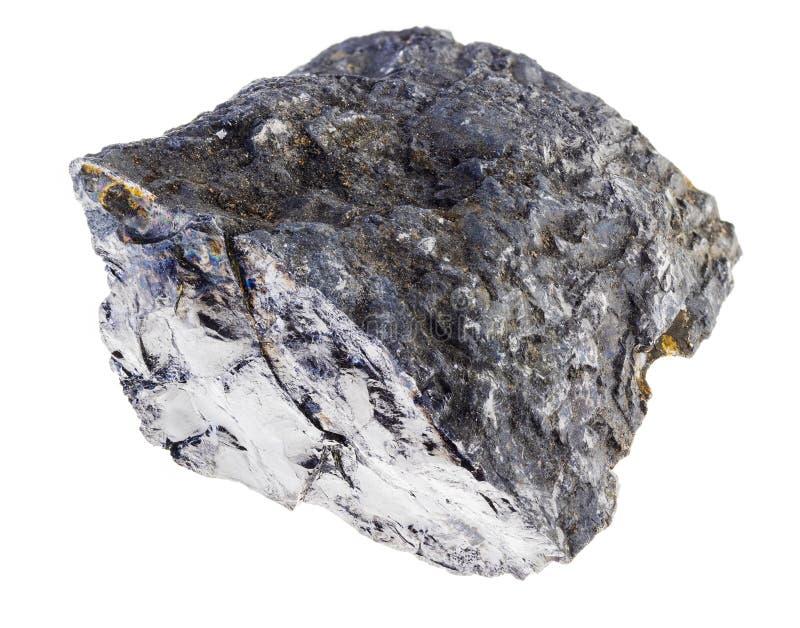 在白色的未加工的沥青煤石头 免版税库存图片