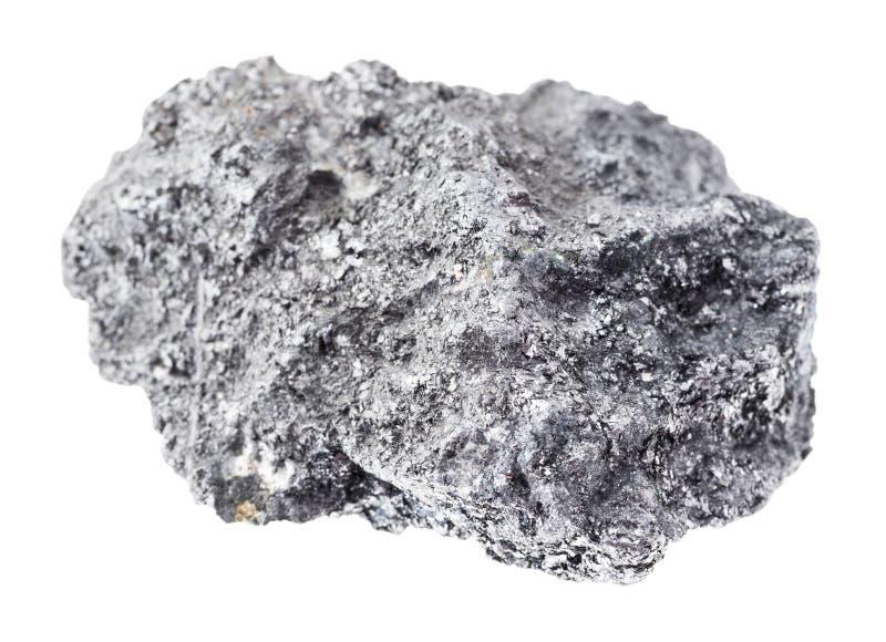 在白色的未加工的石墨石头 图库摄影