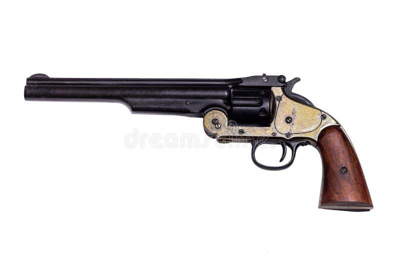 在白色的枪复制品 免版税库存照片