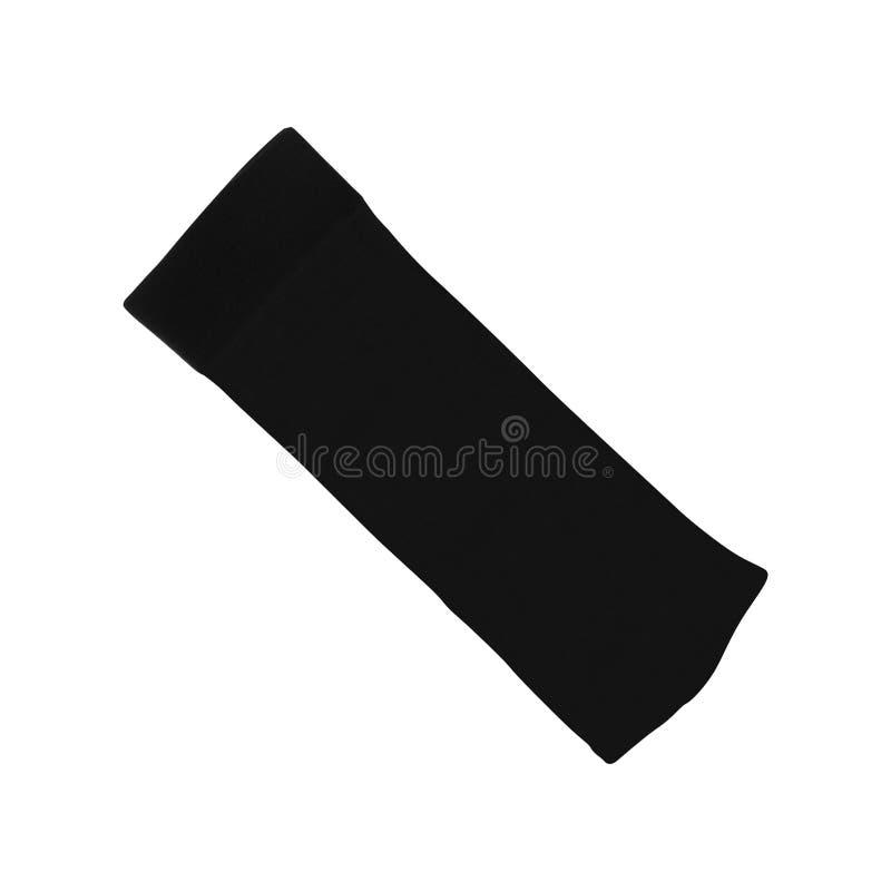 在白色的灰色袜子 库存照片