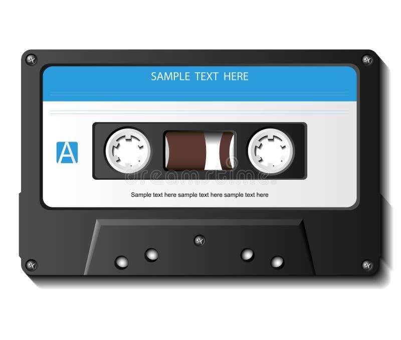 现实盒式磁带 库存例证