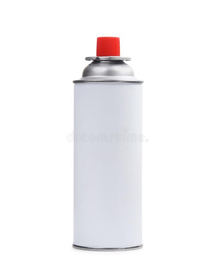 在白色的白色气体喷壶 库存图片
