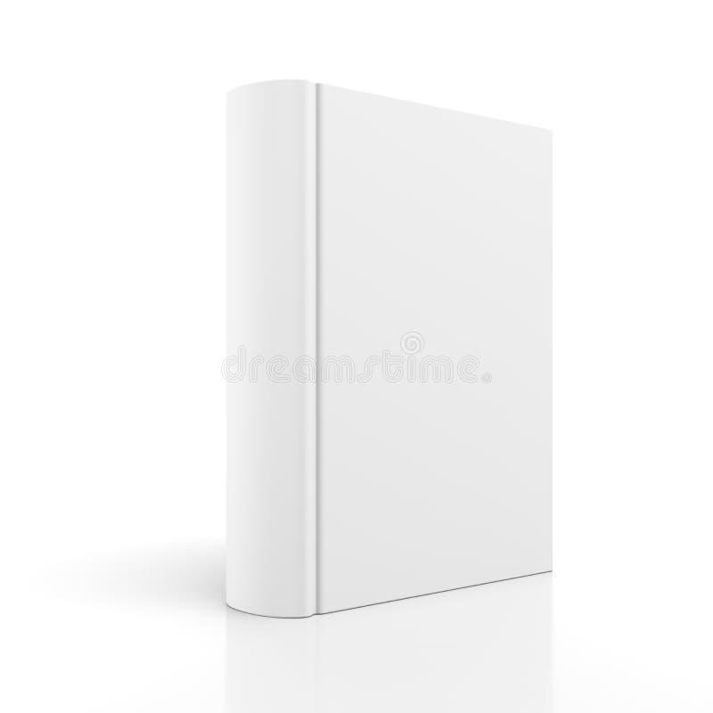 在白色的空白书套 免版税库存照片