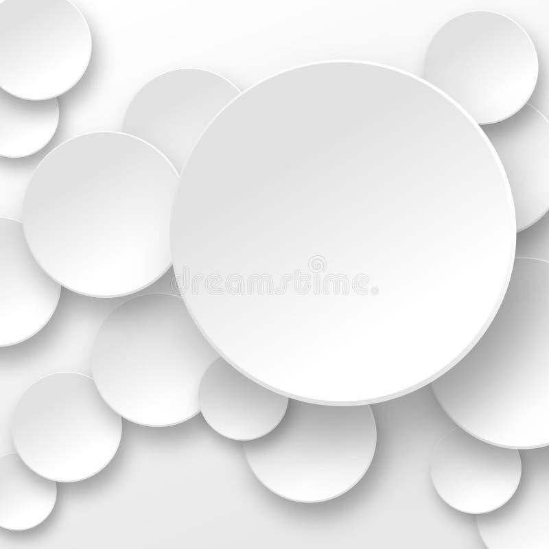 在白色的空白圈子 皇族释放例证