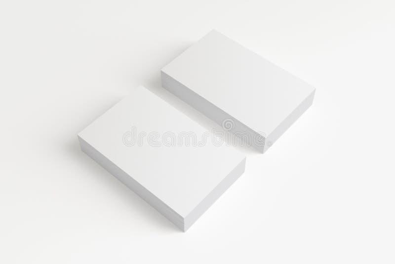 在白色的空白的名片 免版税库存图片