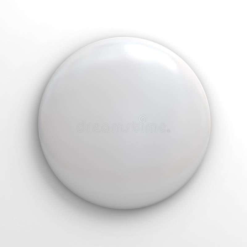 在白色的空白的徽章按钮 皇族释放例证