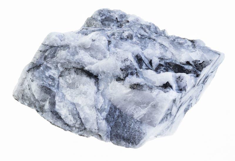 在白色的粗砺的菱镁矿石头 免版税库存照片