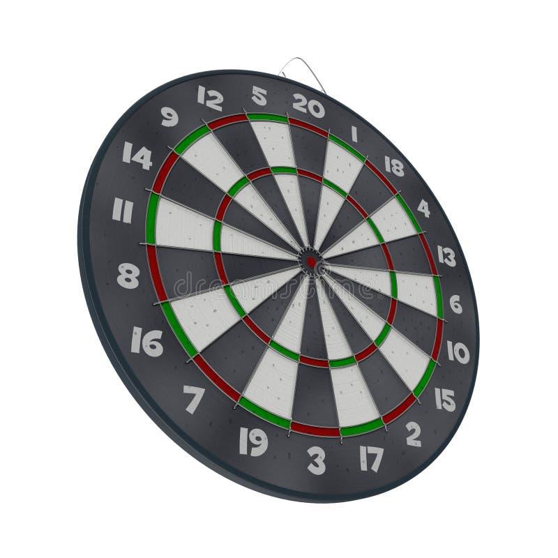 在白色的老目标掷镖的圆靶孤立 库存例证