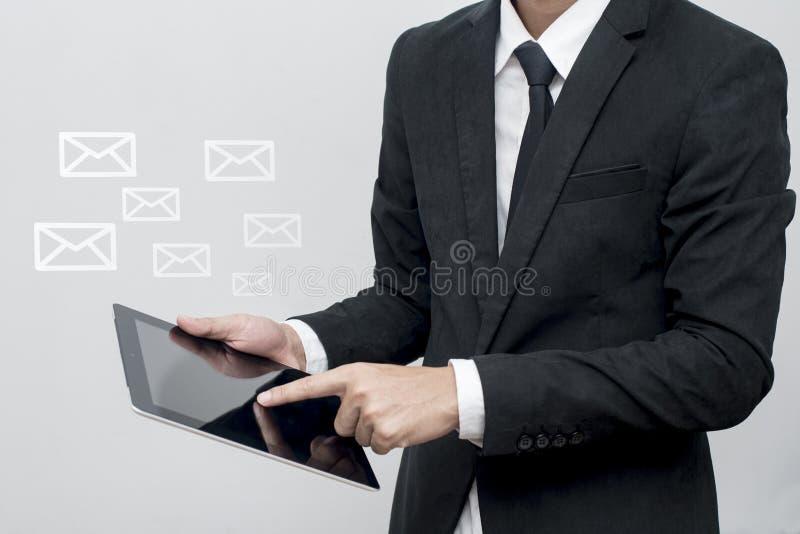在白色的背景商业查出的人 免版税库存照片