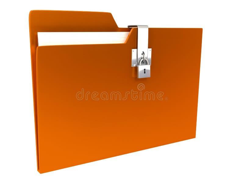 在白色的背景文件夹 皇族释放例证