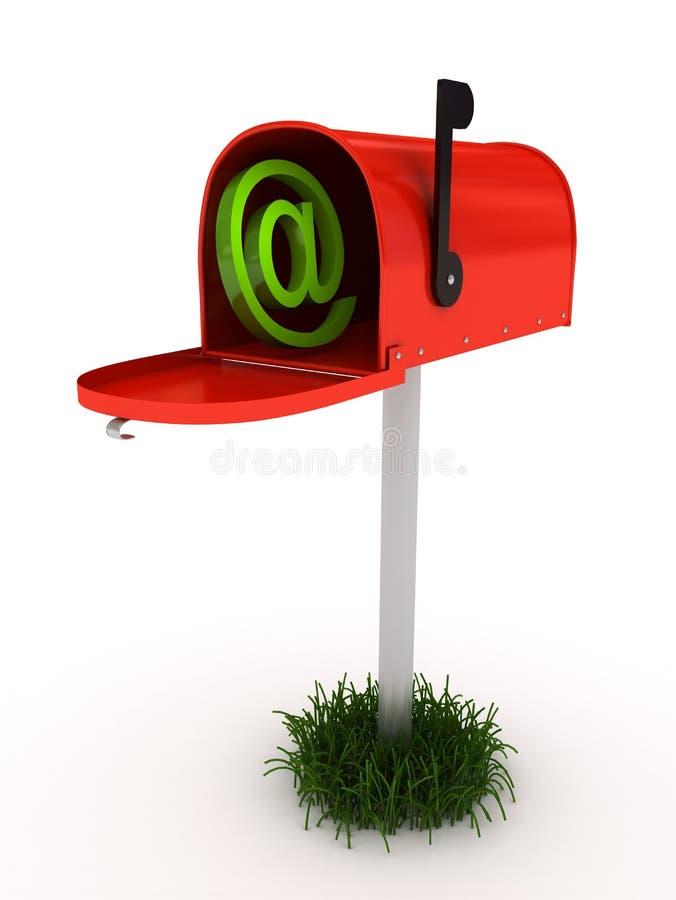 在白色的背景邮箱 皇族释放例证