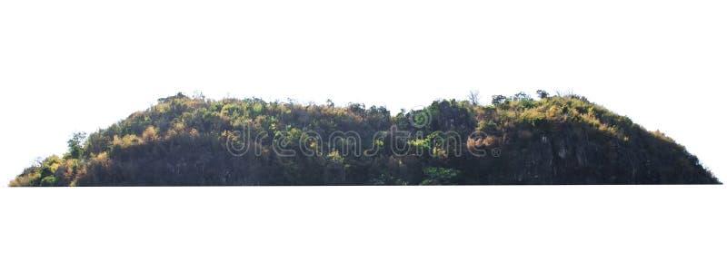 在白色的自然山岩石孤立 库存照片