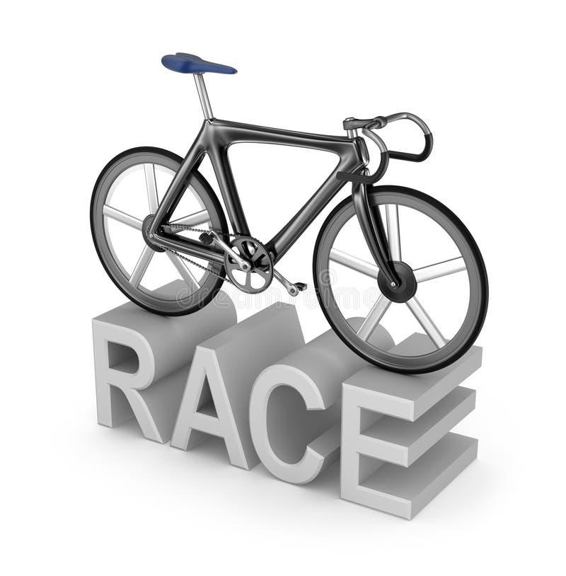 在白色的自行车比赛象 向量例证