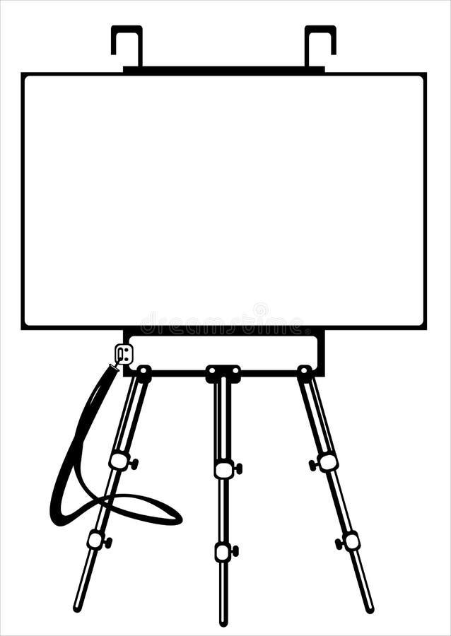 在白色的艺术家的写生簿 皇族释放例证
