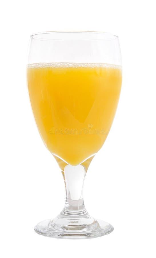 在白色的苹果汁 免版税库存图片