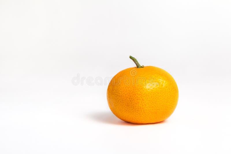 在白色的蜜桔 免版税图库摄影