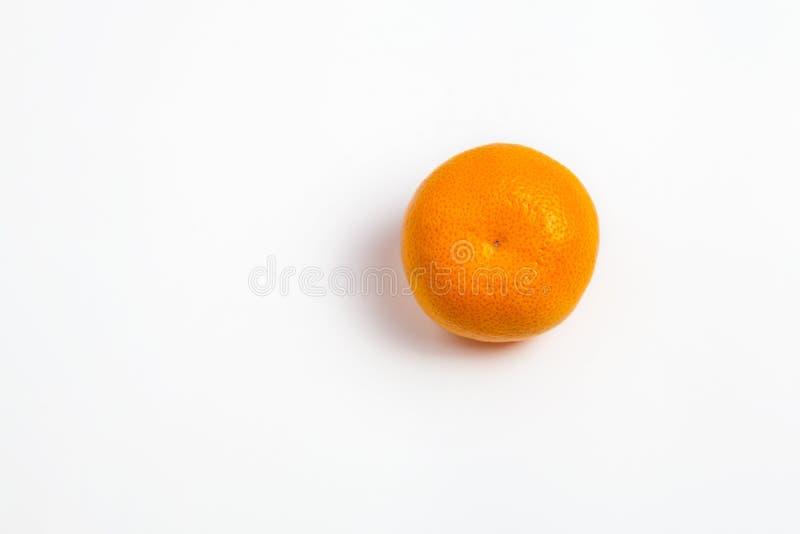 在白色的蜜桔 库存照片