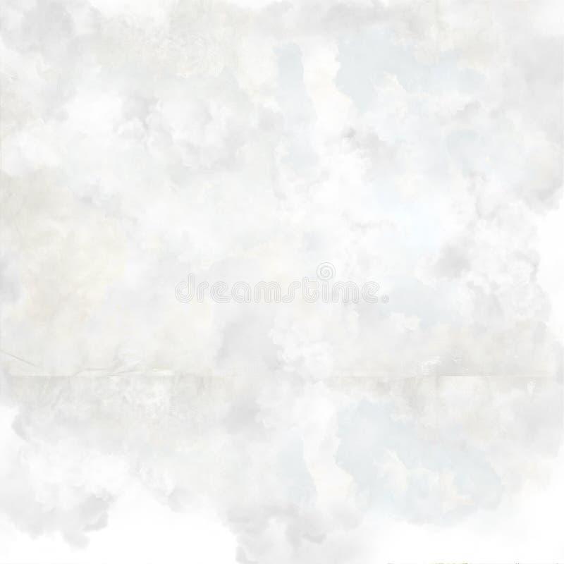 在白色的被弄皱的纸纹理 皇族释放例证
