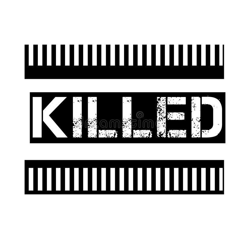 在白色的被杀死的邮票 向量例证