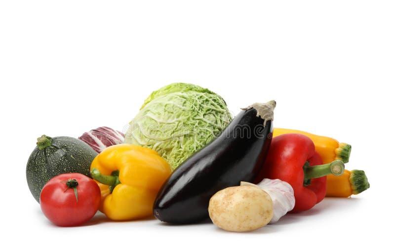 在白色的许多不同的可口菜 免版税图库摄影