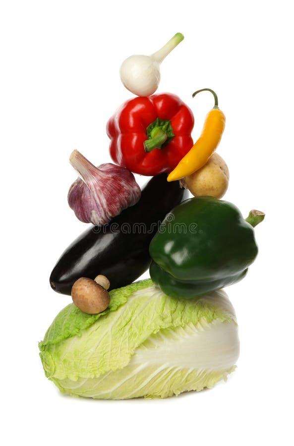 在白色的许多不同的可口菜 图库摄影