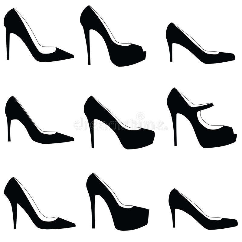 在白色的象凉鞋 库存例证