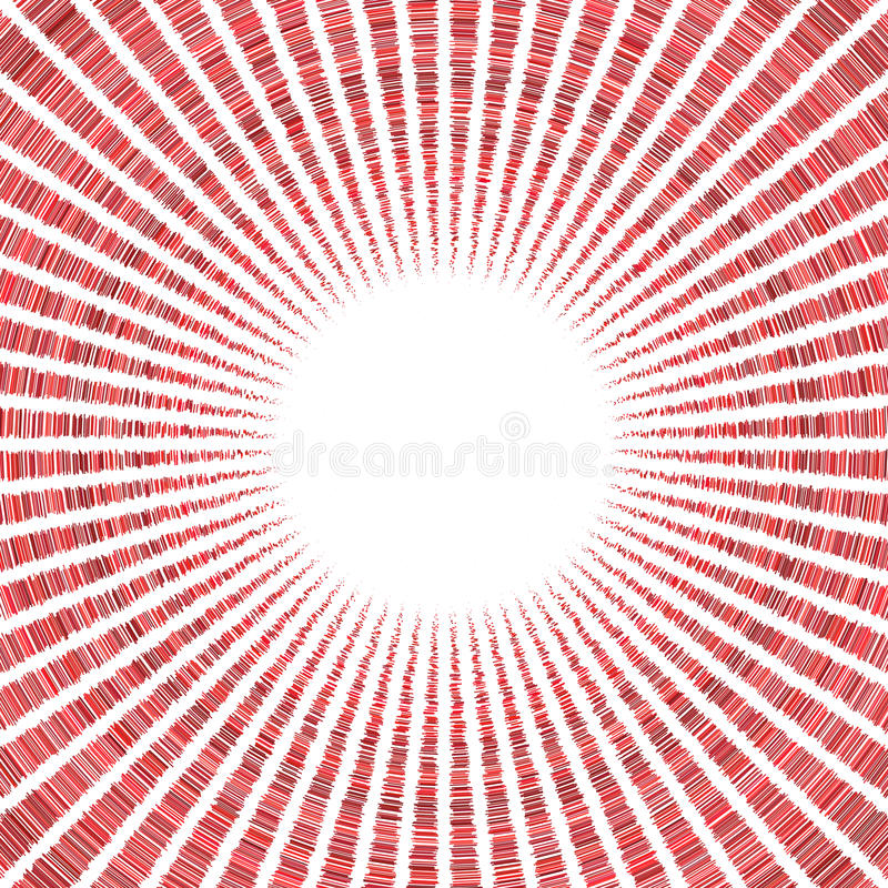 在白色的辐形红色太阳样式 皇族释放例证