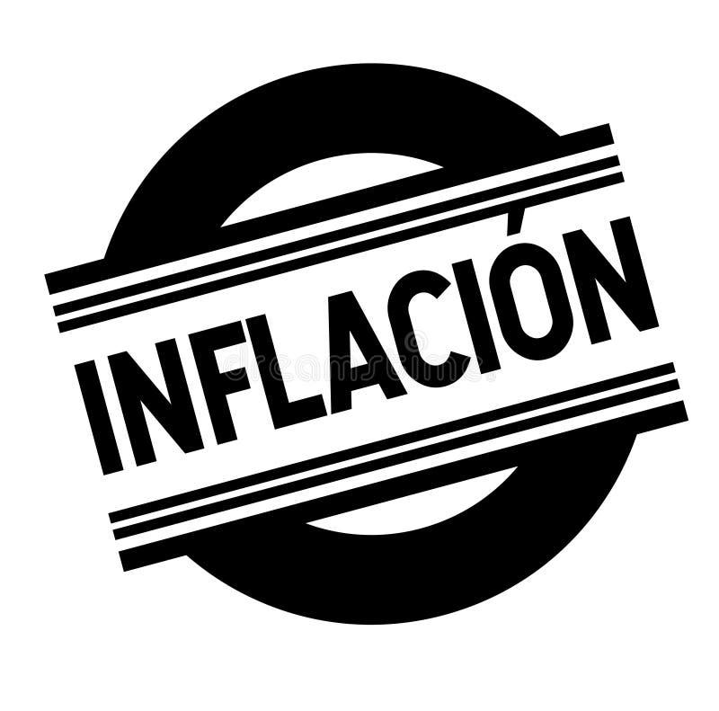 在白色的通货膨胀邮票 库存例证