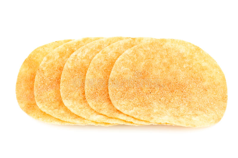 酥脆土豆片 库存照片